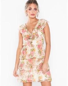 Sheer Frill Dress Blommig