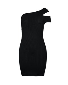 Cross Shoulder Dress Black