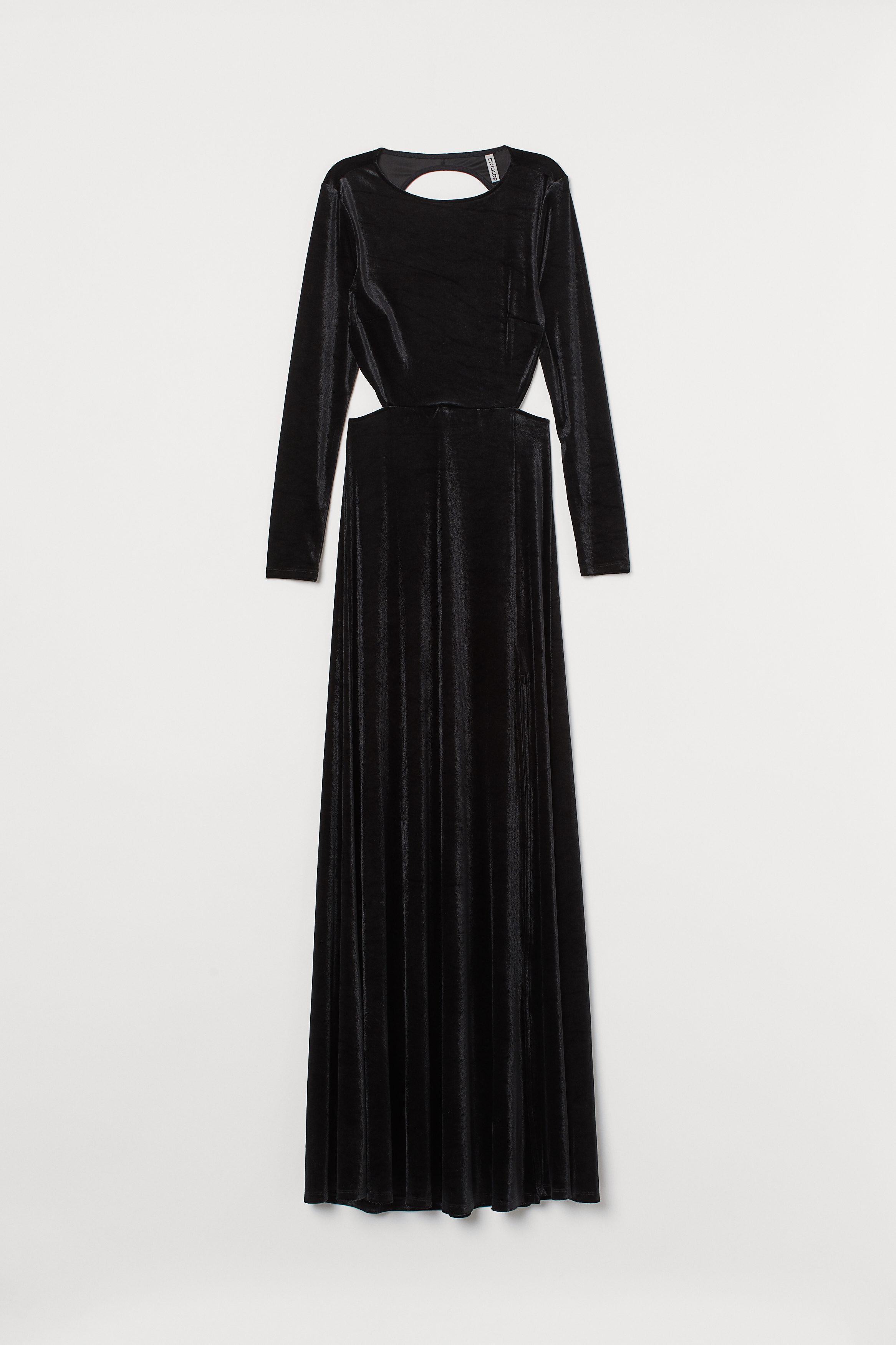 Ribbad Trikåklänning Svart | Upp till 70% |