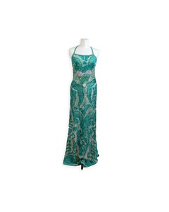 Missoni Green Viscose Light Weight Knit Sleeveless Maxi Dress Size 40