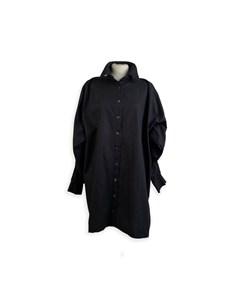 D&g Dolce & Gabbana Black Shirt Dress With Braces Detailing Size 42