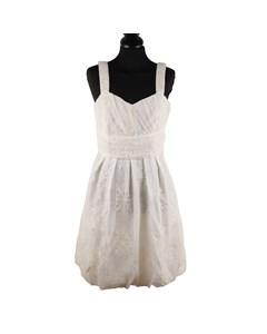 Blugirl Blumarine White Snowflake Mesh Skater Dress Size 42
