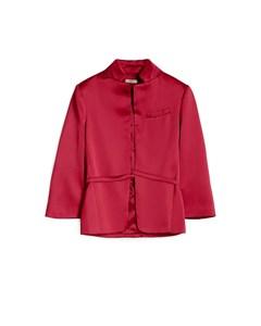Satin Blazer Carmosine Red