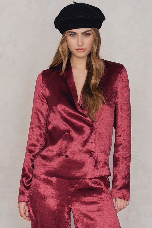NA KD Blazer double breasted ladies party jacket in metallic