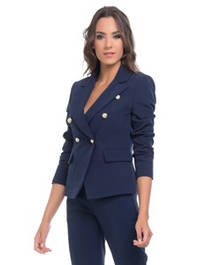 Jacket With Gold Buttons details  Navy
