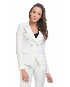 Jacket With Gold Buttons details  White