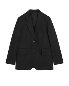 Fluid Viscose Blend Blazer Black