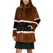 38e34645 Numph Women's Dot Faux Fur Jacket Brown | Shoppa Online | Afound