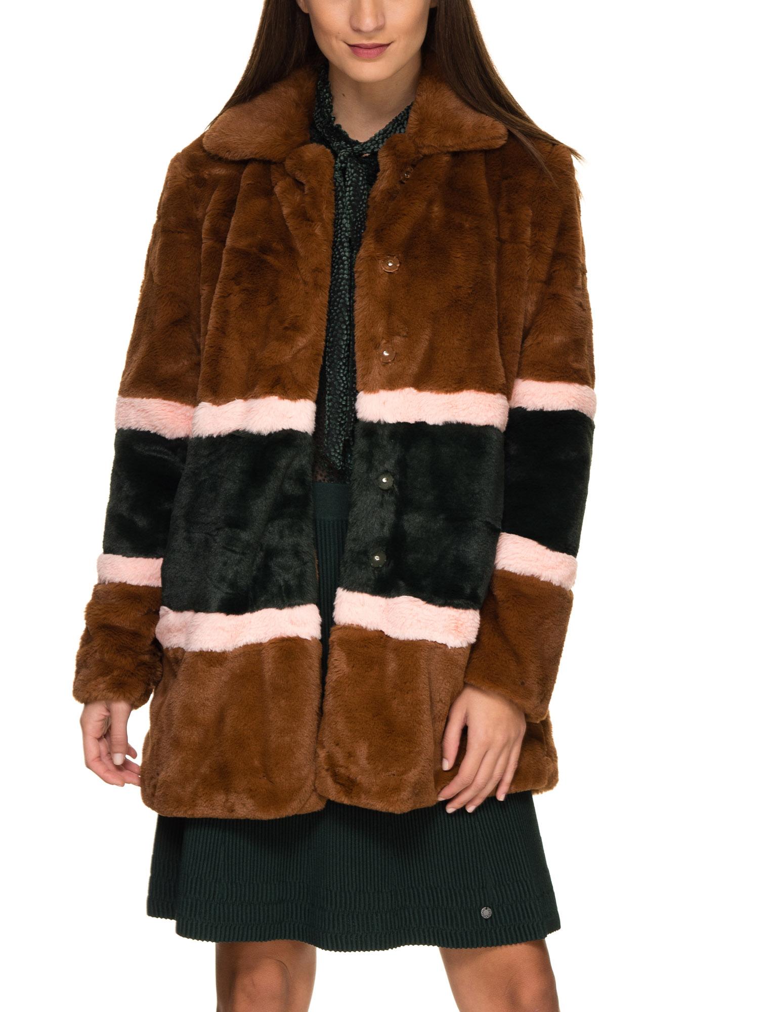e2d7475e Numph Women's Dot Faux Fur Jacket Brown - Numph women's faux fur jacket by  the serie