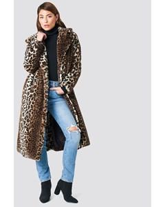 Faux Fur Leo Coat Leopard