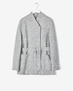 Leia Belt Jacket Light Grey