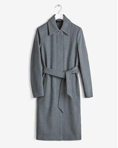 Iza Wool Belt Coat Grey Mel.