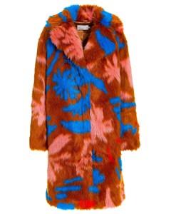 Statement Fur Coat Multi