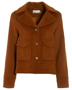 Notched Collar Jacket Rust