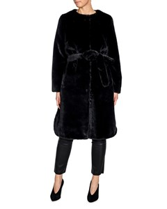 Stand Coat Adina Faux Fur Velvety Black