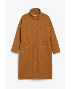 Turtleneck Coat Tan Brown