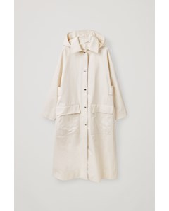 Hooded Coat White