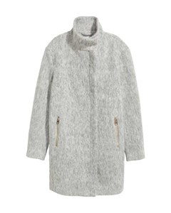 Wool-blend Coat Grey