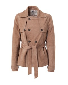 Dana Suede Short Trench Camel
