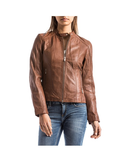 Blue Wellford Blue Wellford - Leather Jacket - Woman