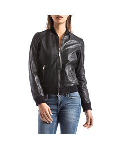 Blue Wellford - Leather Jacket - Woman