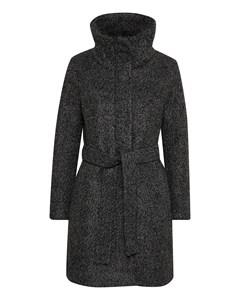 Seola Zip Coat Dark Grey Melange