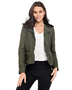 Oakwood - Leather Jacket Zipped Pockets On The Front Long Sleeves - Woman