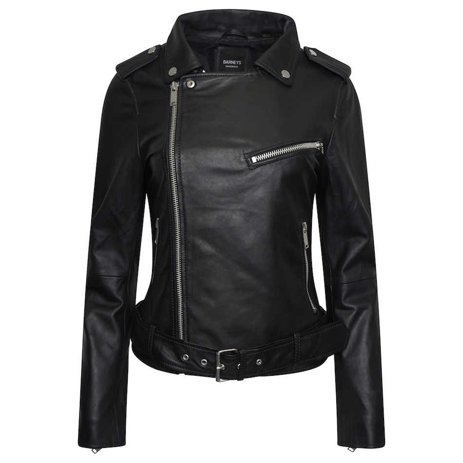 Women's Real Leather Asymmetric Jacket With Waist Belt | Upp