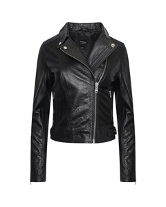 Women's Real Leather Asymmetric Jacket With Snake Print