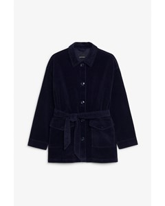 Marnie Cord Jacket Navy Blue
