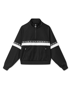 Women Chinami Half Zip Shirt Black-bright White