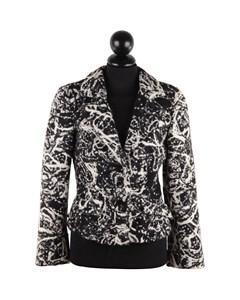 Battistoni Roma Black & White Wool Textured Blazer Jacket Sz 42