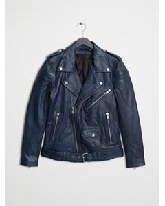Leather Jacket 8 Ink Blue