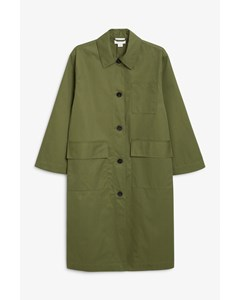 Oversized Utility Coat Khaki Green