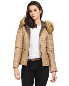 Fury Imitation Fur Leather Down Jacket