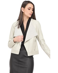 Bridget Lapel Collar Leather Jacket 62266