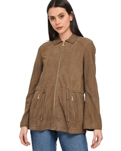 Worker Spirit Jacket In Nubuck Leather Pampa 62720