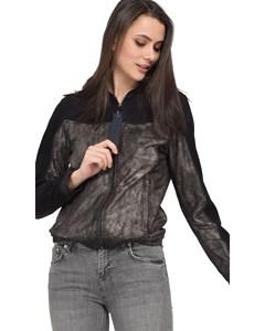 Nubuck Leather Short Zip Jacket Fresh 63264
