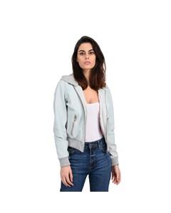 Leather Jacket With Hood Ocean Ocean
