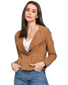 Diva Lapel Collar Leather Jacket 62336