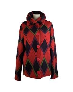 Roberta Di Camerino Red Wool Diamond Print Jacket