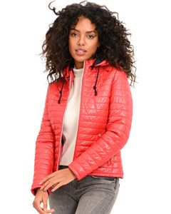 Hooded Quilted Leather Jacket