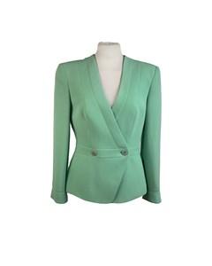 Giorgio Armani Vintage Green Silk Double Breasted Blazer Size 38