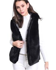 Faux Fur Sleeveless Vest Charming
