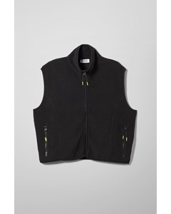 Malaya Fleece Vest Black