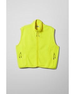 Malaya Fleece Vest Yellow