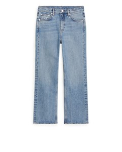 Flared Cropped Jeans Light Blue