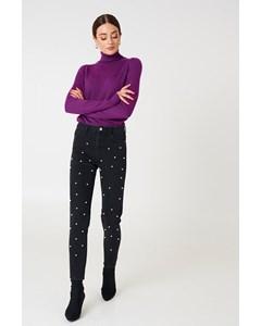 Pearl Denim Pants - Black