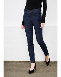 Julia Ankle Trousers Raw Blue Denim