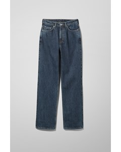 Rowe Extra High Straight Jeans Win Blue